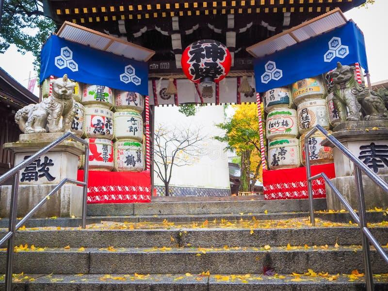 Kushida寺庙在福冈 免版税库存照片