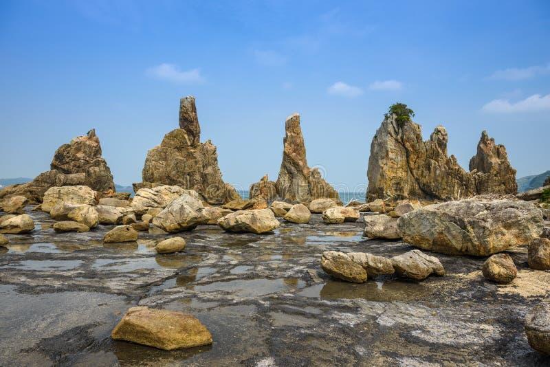 Kushimoto, Giappone Rocky Coastline immagini stock