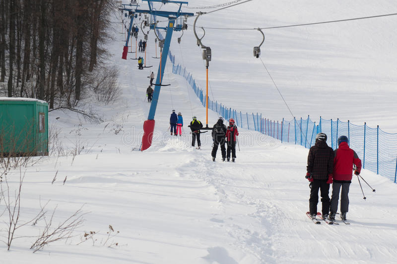 Kushtau-Skiort stockfotos