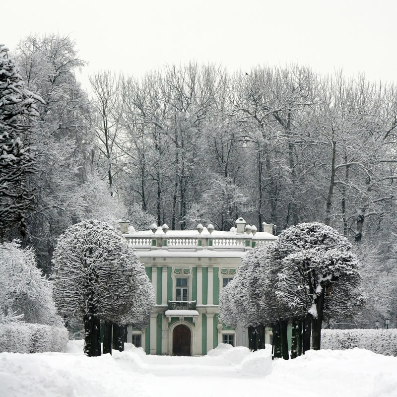 kuskovo冬天 库存图片