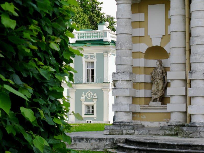 Kuskovo Manor è un architetto immagine stock