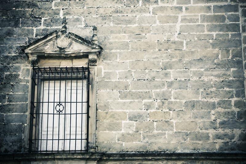kusligt stonewall fönstret arkivbild