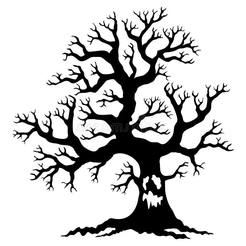 Kusligt torrt träd vektor illustrationer