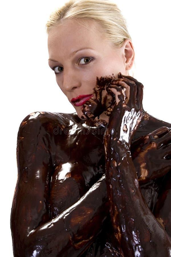 Kussende chocolade stock foto