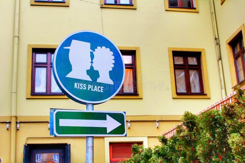 Kussplatz stockfoto