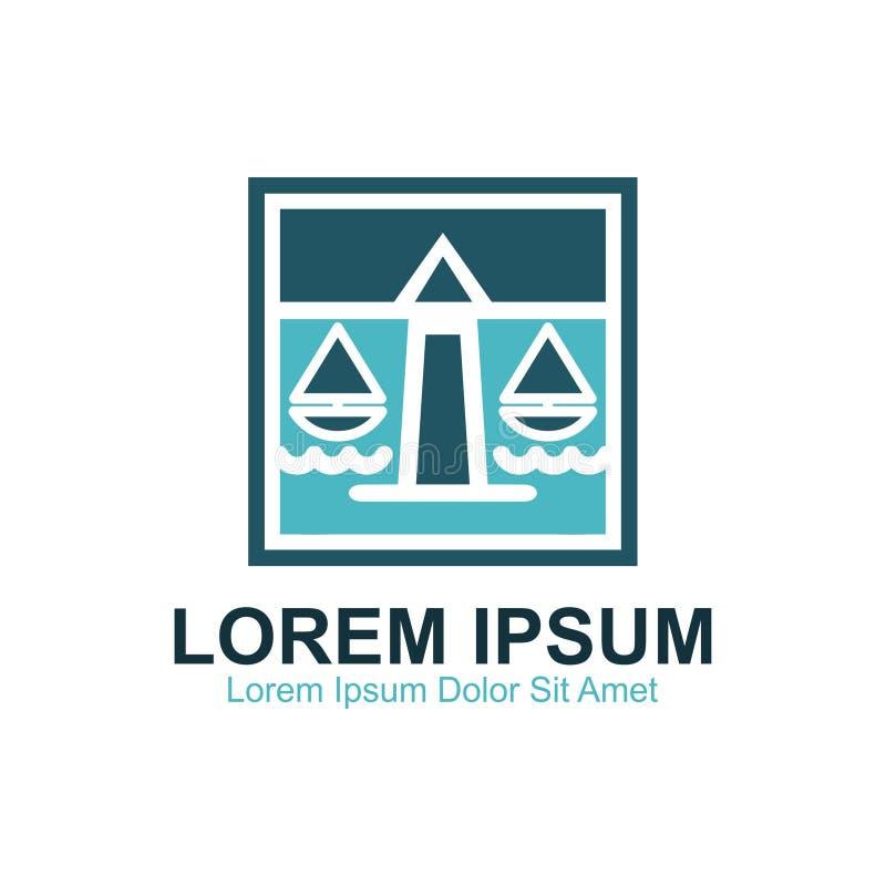 Kust- advokat Firm Logo stock illustrationer