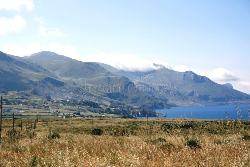 Kust & land van Sicilië royalty-vrije stock fotografie