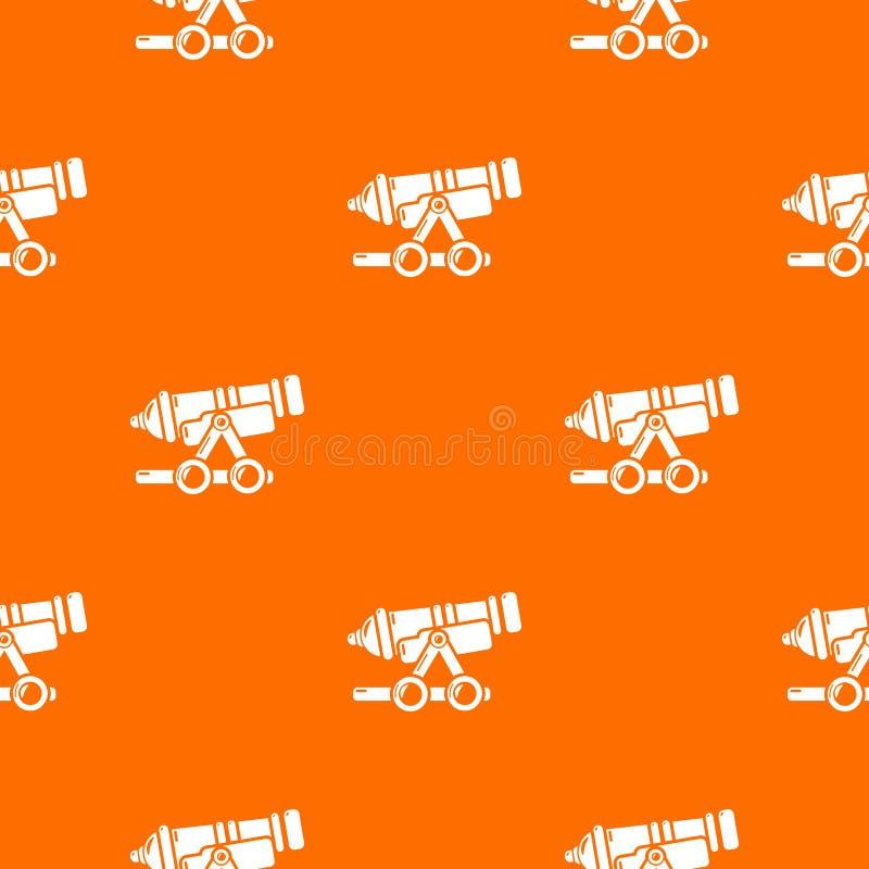 Kust- apelsin för kanonmodellvektor vektor illustrationer