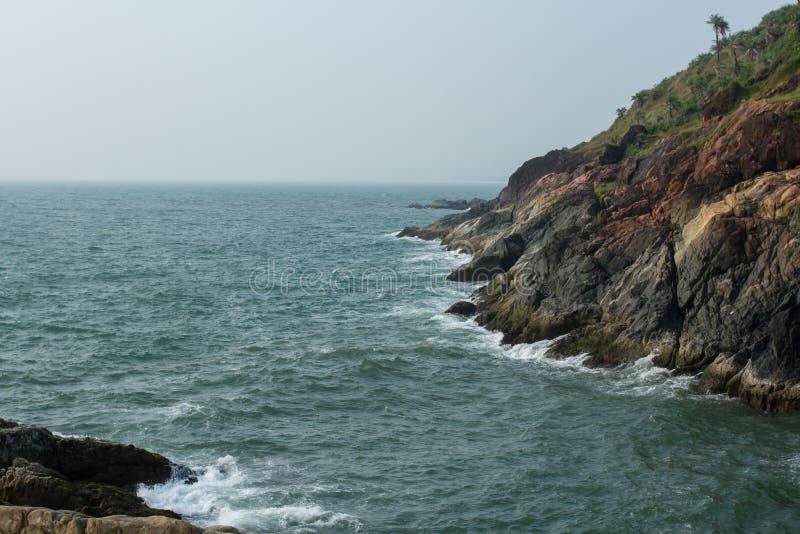 Kust av Adriatiskt havet i Indien arkivfoto
