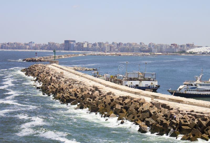 Kust av Alexandria royaltyfri bild