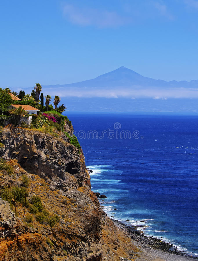 Kust av Gomera arkivbilder