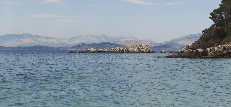 Kust av Korfu arkivbild