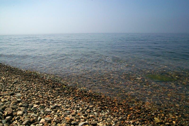 Kust av Laket Baikal fotografering för bildbyråer