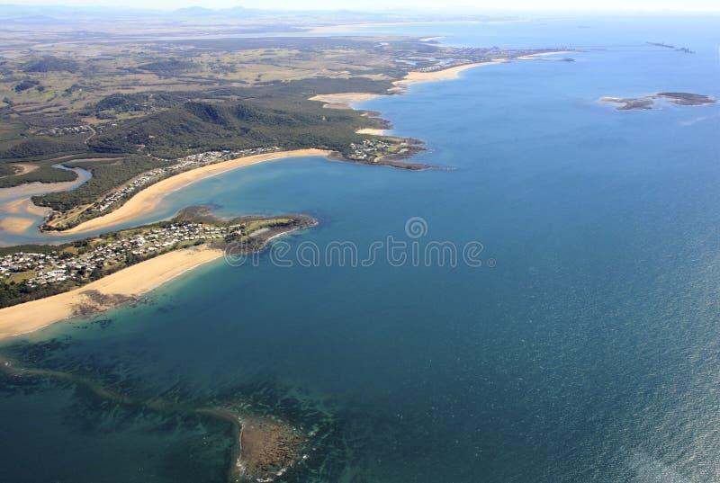 Kust av Queensland, Australien arkivfoton