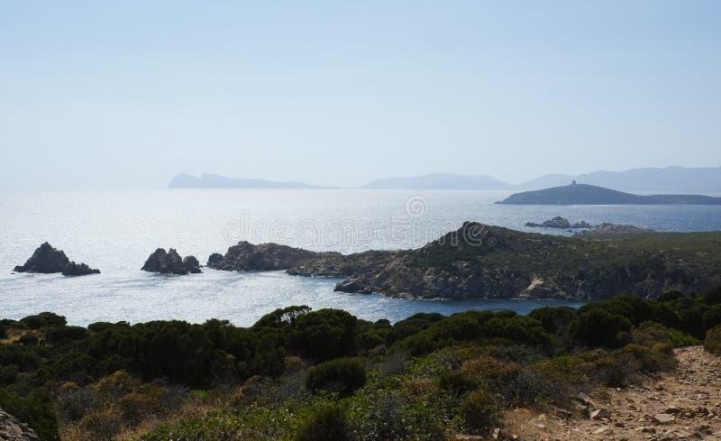 Kust av Sardinia royaltyfri foto
