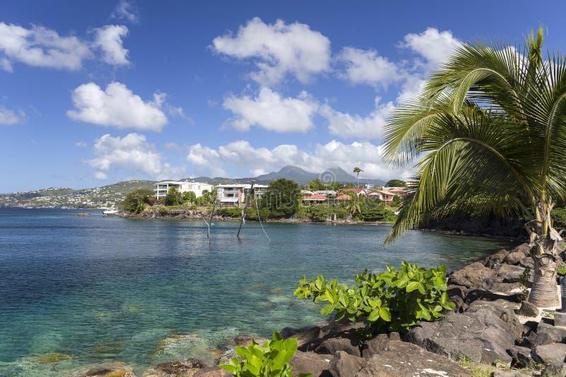 Kust av stadsFort-de-France, Martinique fotografering för bildbyråer