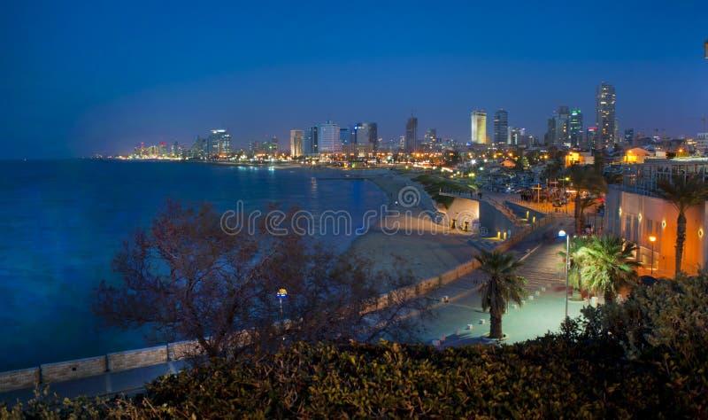 Kust av Tel Aviv royaltyfria foton