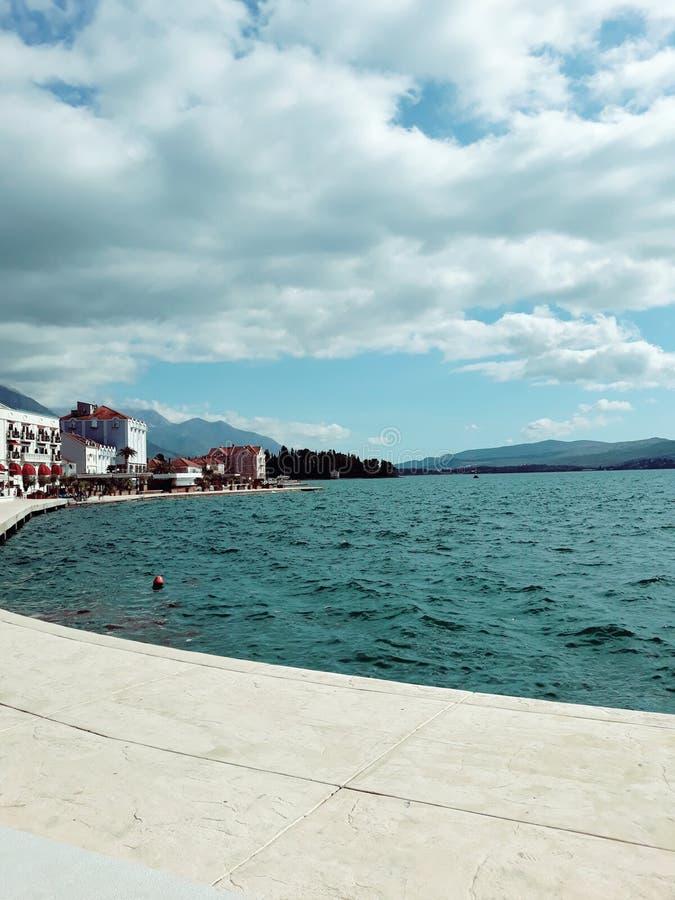 Kust av Tivat, Montenegro royaltyfri fotografi