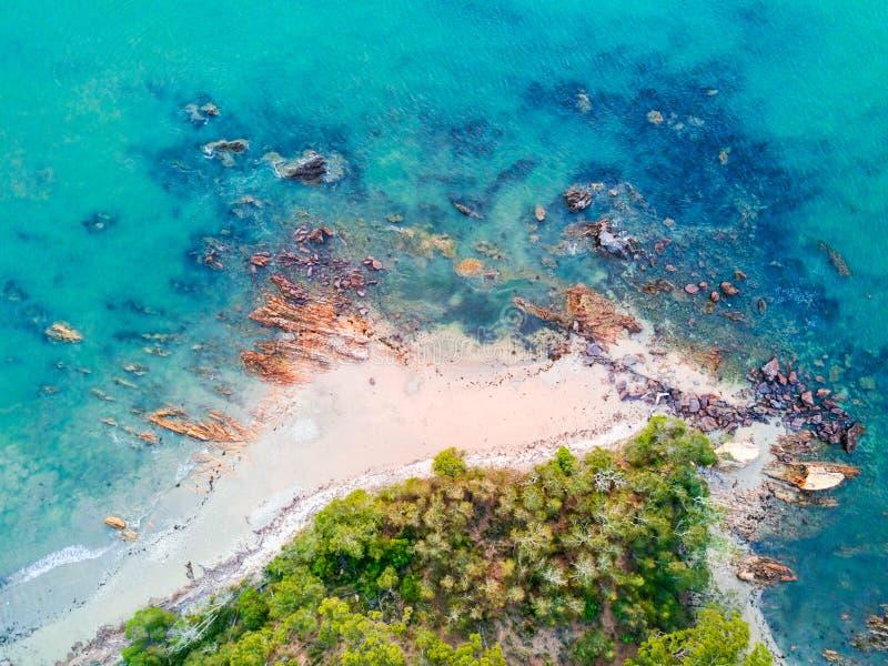 Kust- Batemans för flyg- sikter för shoreline fjärd arkivfoto