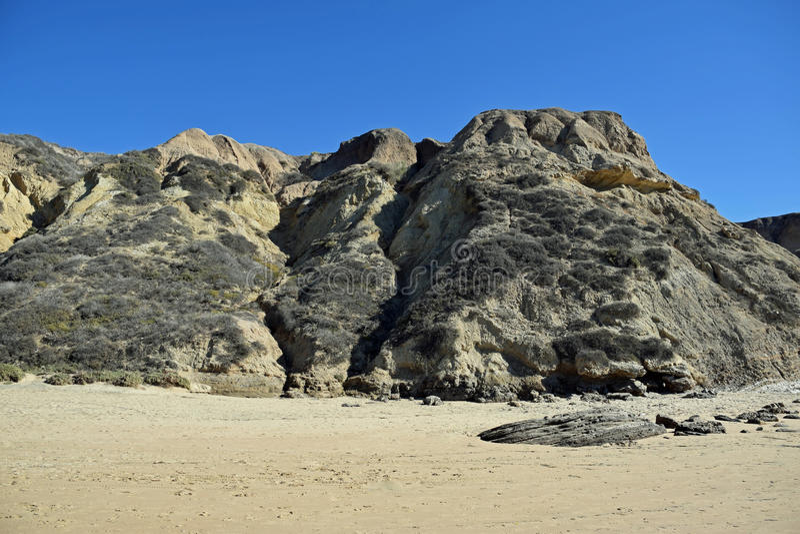 Kust bluff in Crystal Cove State Park, Zuidelijk Californië stock fotografie
