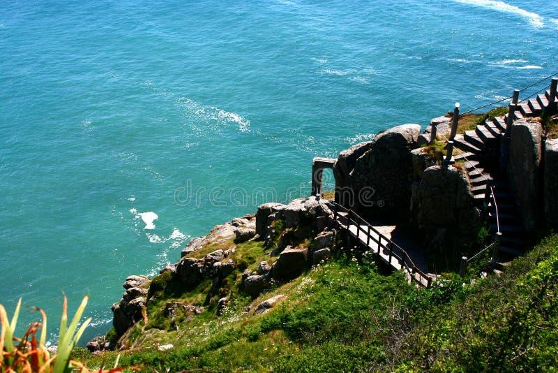 Kust in Cornwall Engeland royalty-vrije stock foto