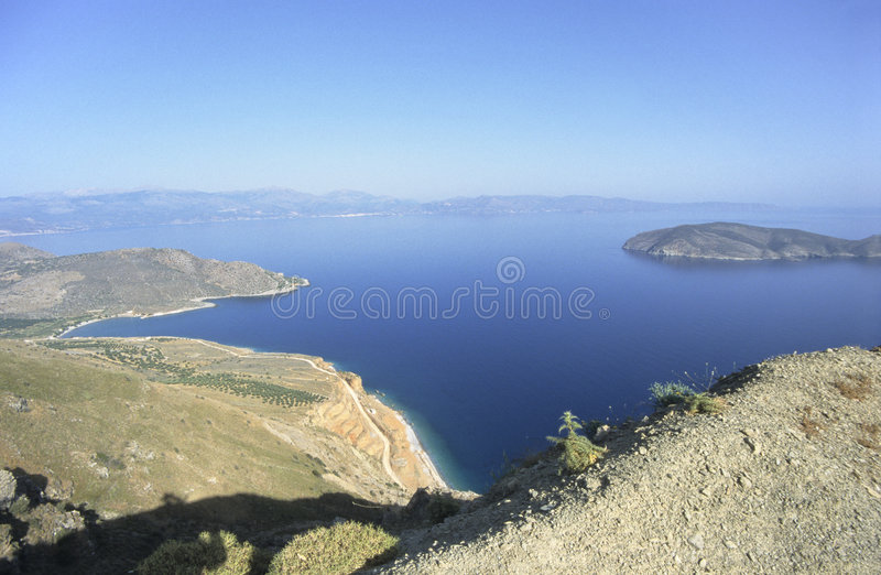 kust crete arkivbild