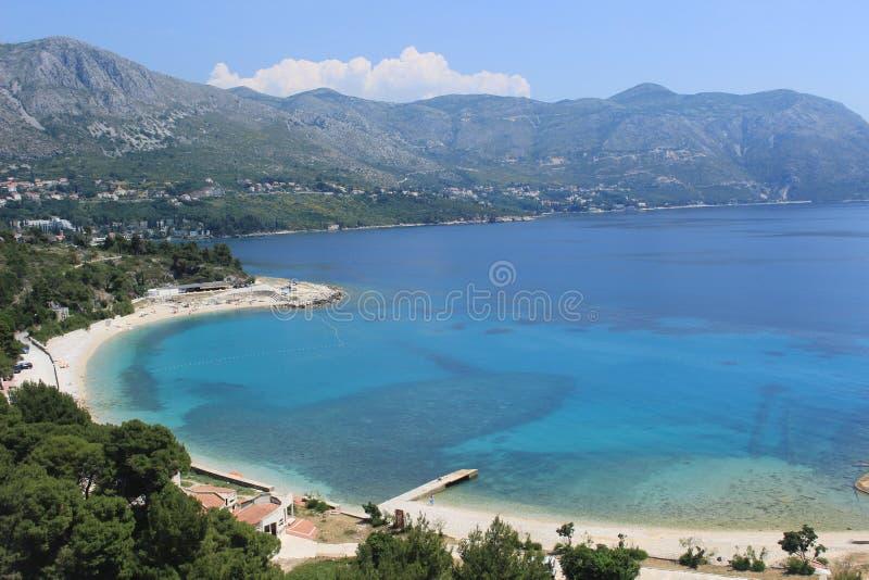 kust croatia fotografering för bildbyråer