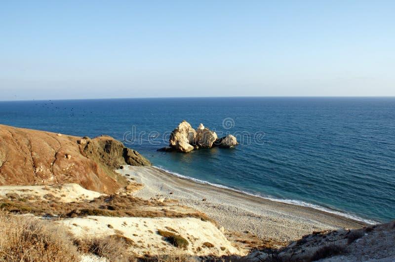 Kust in Cyprus royalty-vrije stock foto