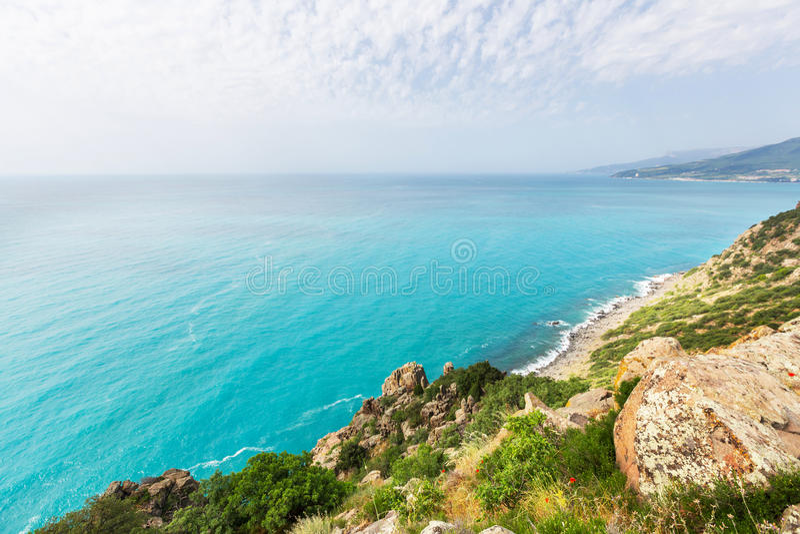 Kust in de Krim stock afbeeldingen