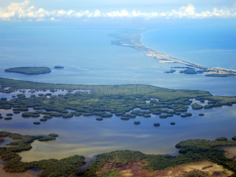 Kust di Santa Marta (Colombia) vanuit het de lucht; Coa di Santa Marta fotografie stock libere da diritti