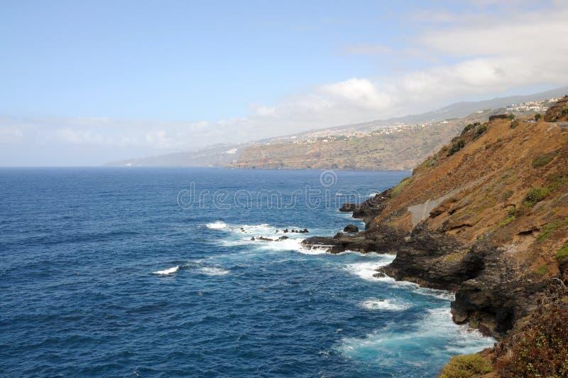 Kust dichtbij Puerto DE La Cruz. Tenerife, Spanje royalty-vrije stock fotografie