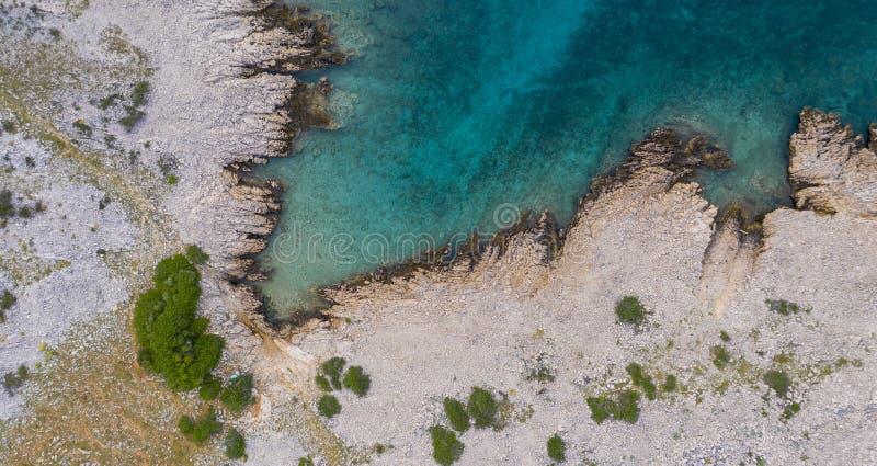 kust en Adriatische overzees, Kroatië royalty-vrije stock afbeeldingen