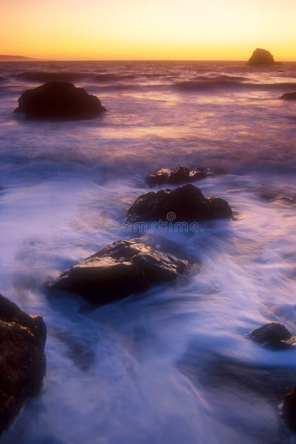 kust för 03 Kalifornien fotografering för bildbyråer