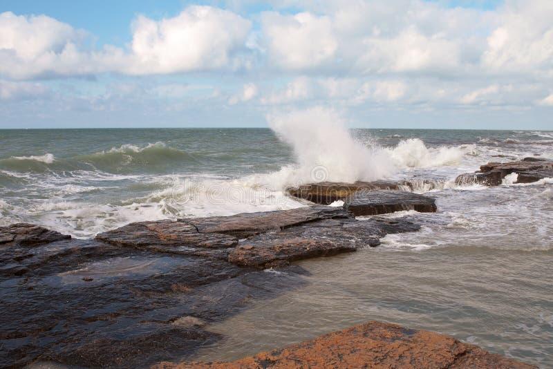 kust för caspian hav arkivfoton