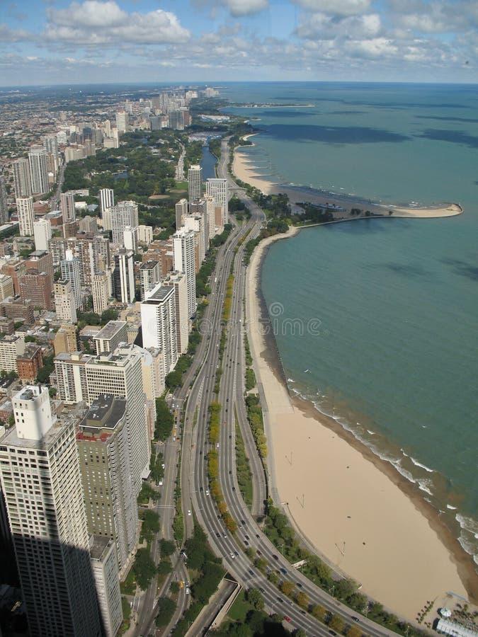kust för chicago drevlake royaltyfri bild