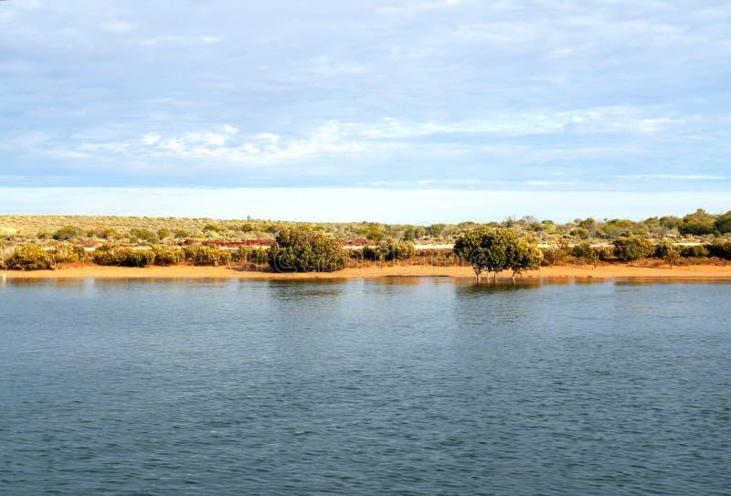 Kust för en Outback, port Augusta (överträffa av Spencergolf), södra Aust arkivfoton