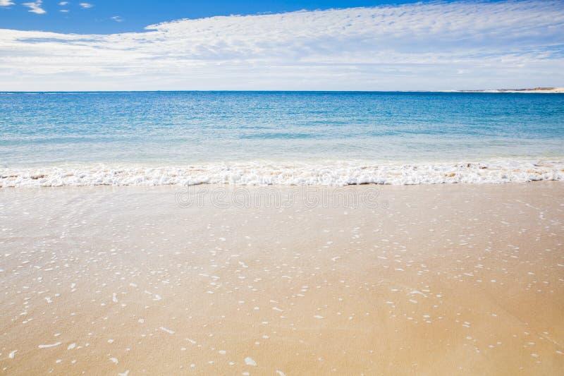 Kust för hav för Ningaloo härlig australisk sommarstrand arkivbilder
