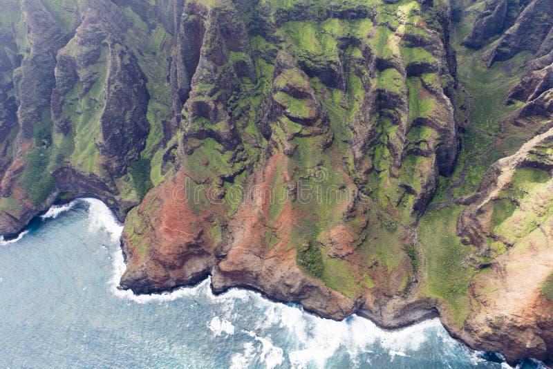 Kust för Na Pali - Kauai, Hawaii royaltyfri foto