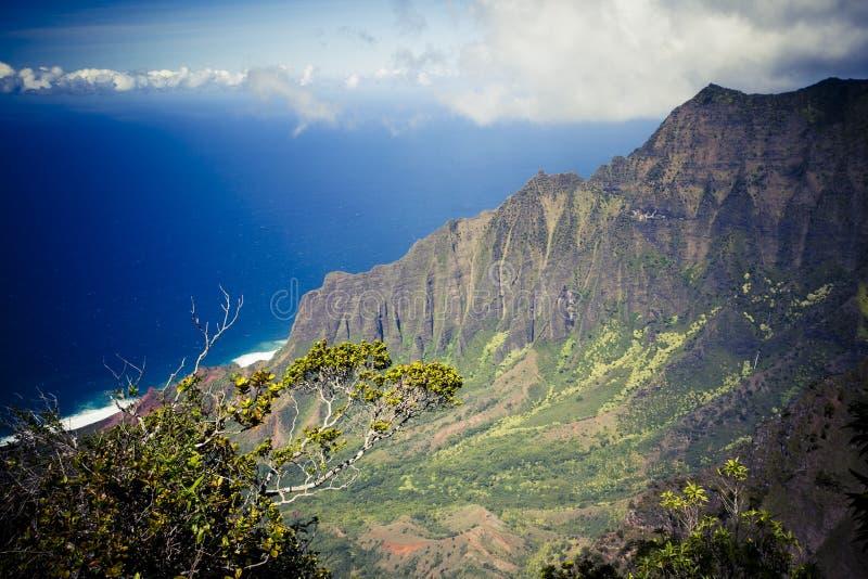 Kust för Na Pali - Kauai, Hawaii arkivfoto