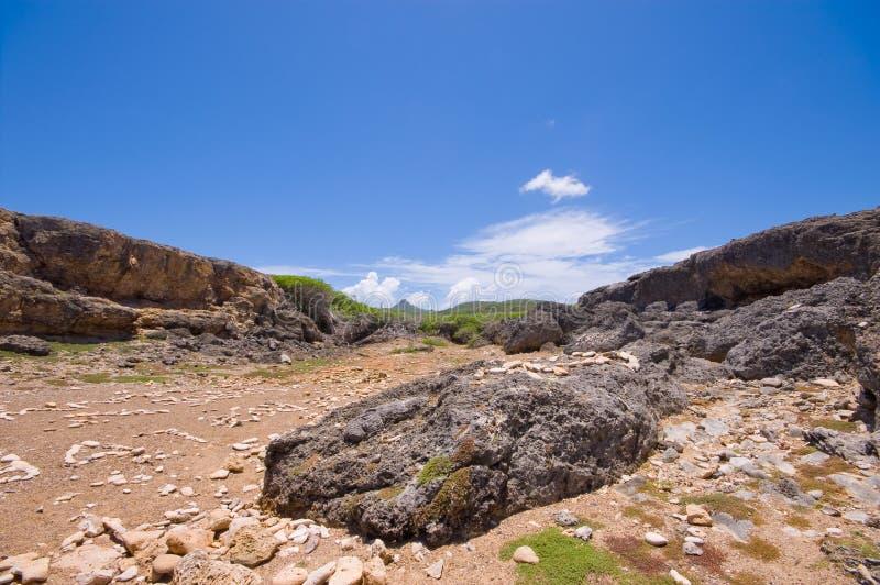 kust för shete för bocaöppningsnationalpark stenig arkivbild