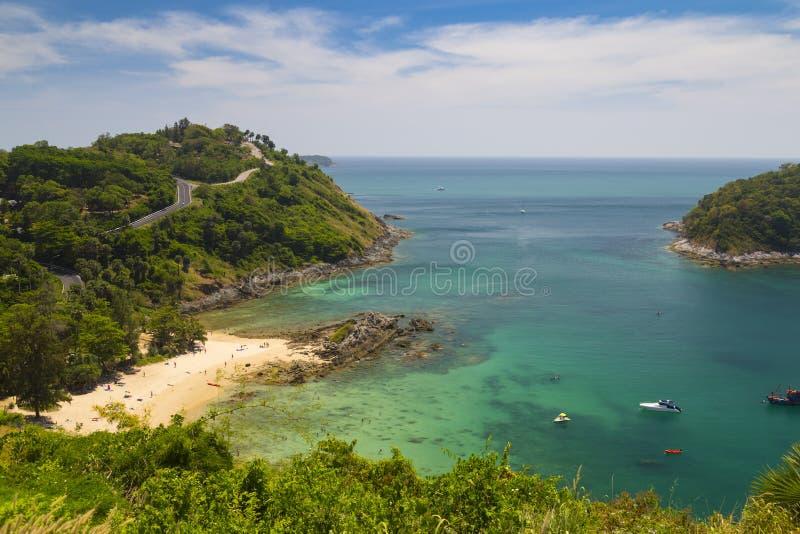 Kust för tropiska öar, hav, Phuket thailand royaltyfri bild