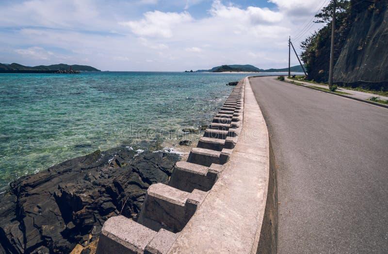 Kust- försvar, Okinawa royaltyfria bilder