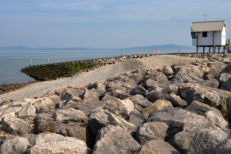 kust- försvarhav royaltyfri bild