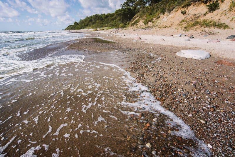 Kust f?r baltiskt hav royaltyfri fotografi