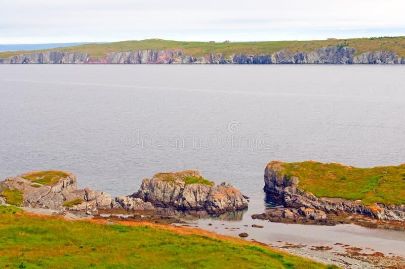 Kust- fjärd i Newfoundland royaltyfria foton