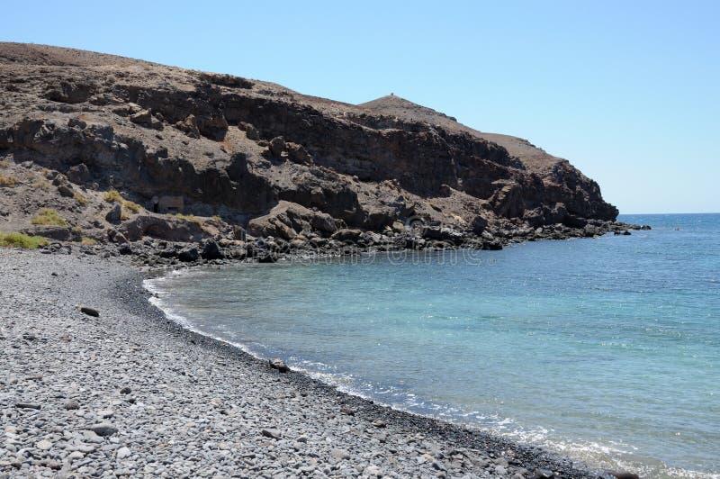 kust fuerteventura royaltyfria bilder