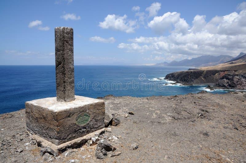 kust fuerteventura västra steniga spain royaltyfri fotografi