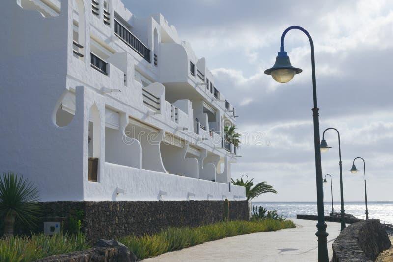 Kust- gå i Lanzarote, Arrecife arkivbilder