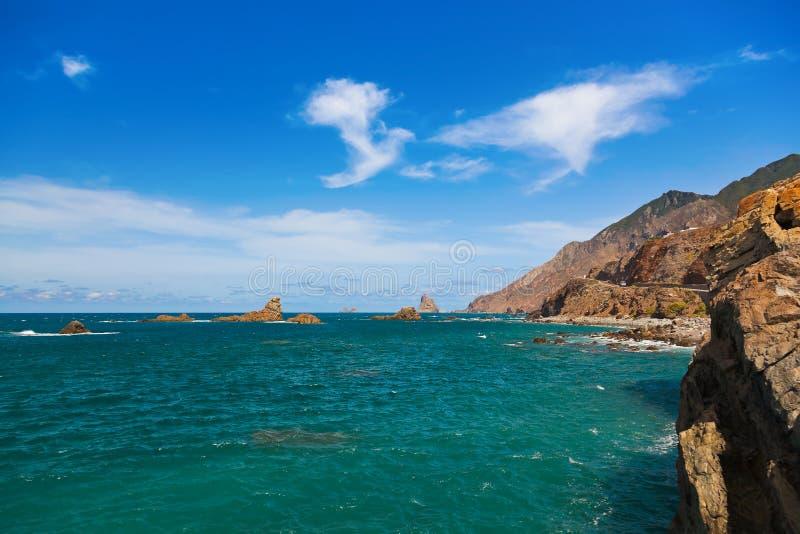 Kust in het eiland van Tenerife - Kanarie Spanje royalty-vrije stock afbeeldingen