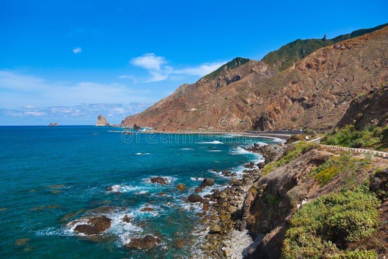 Kust in het eiland van Tenerife - Kanarie Spanje royalty-vrije stock afbeelding